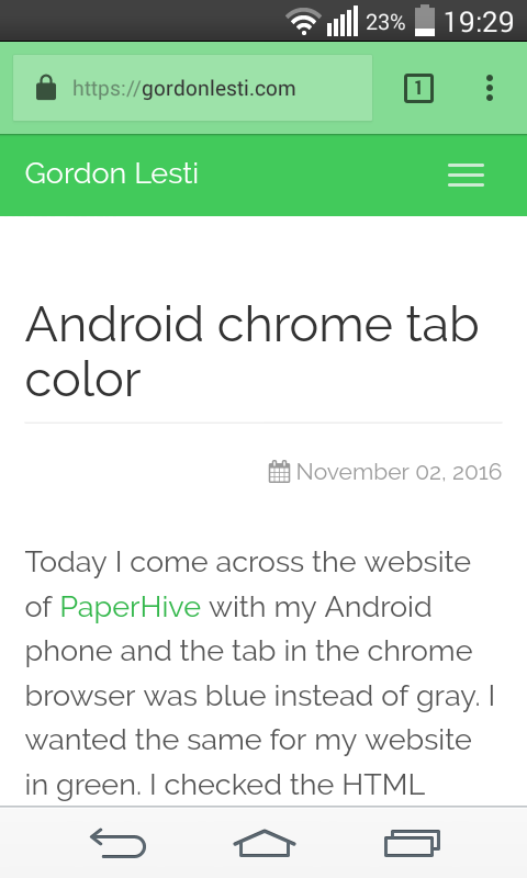 Android chrome tab color focus tab