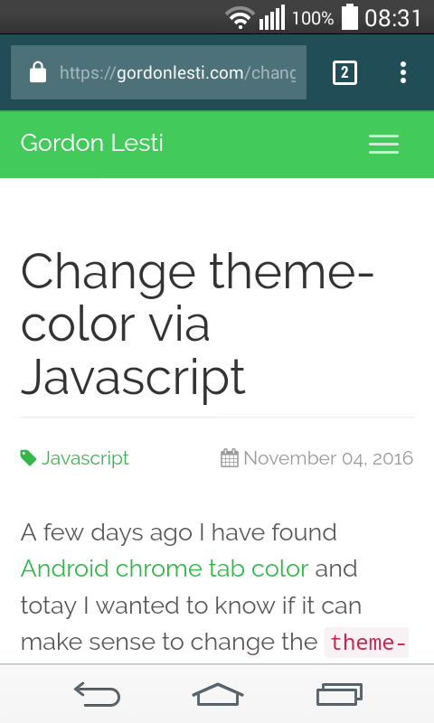 Change theme-color example 1