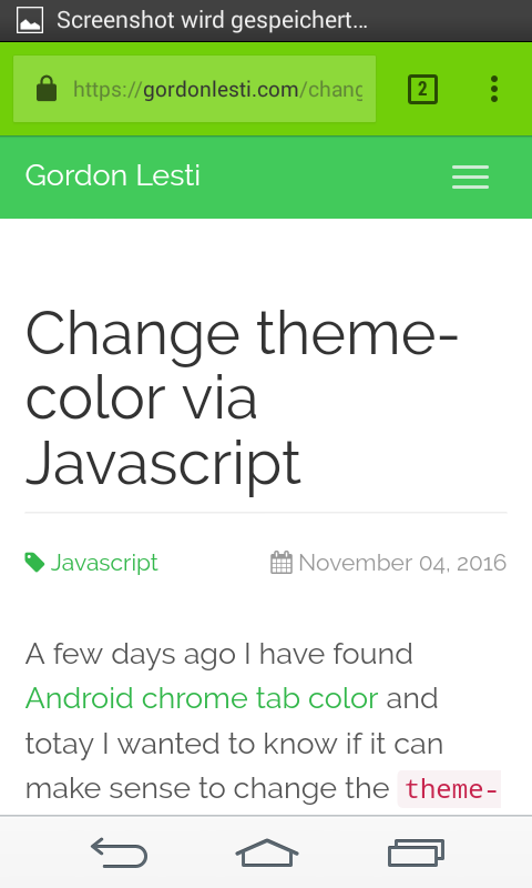 Change theme-color example 2