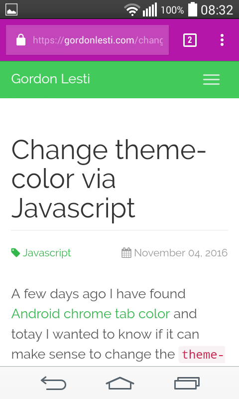 Change theme-color example 3
