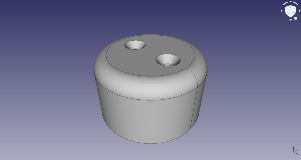 FreeCAD wooden foothold