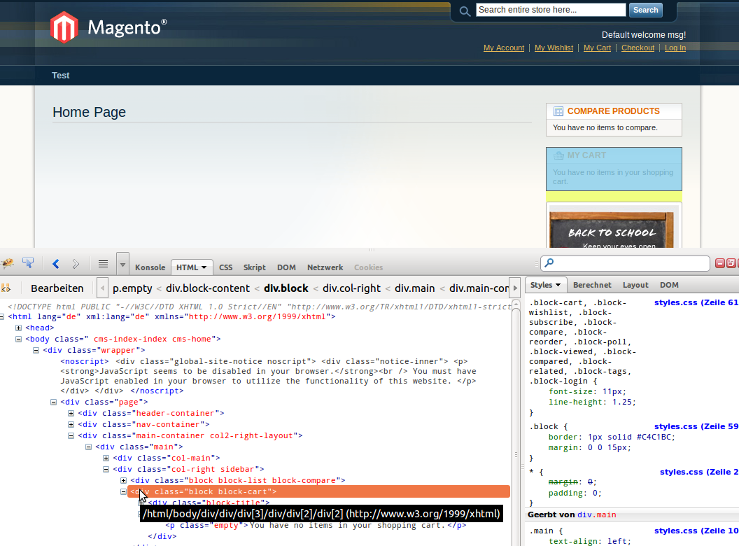 How to find the name in layout of a block in magento gordon lesti now i know the html of this block a little bit im searching for unique things that i can find in the template of the block maxwellsz