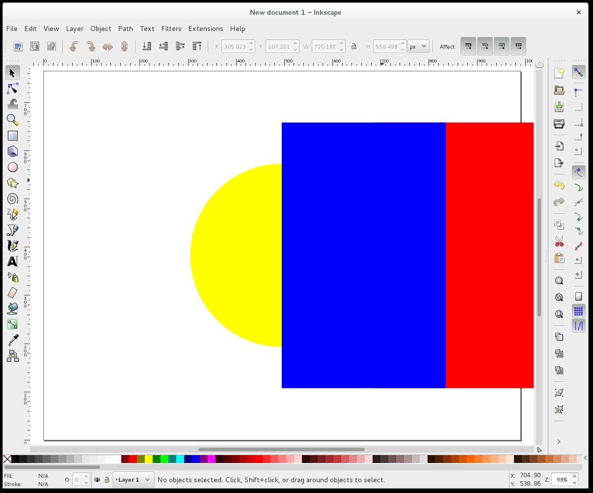 Inkscape - Cut an object in half – Gordon Lesti
