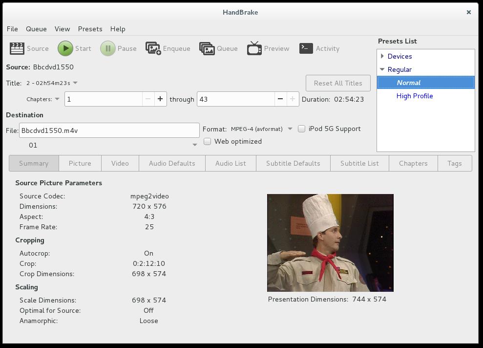 Ripping a DVD with HandBrake on Linux – Gordon Lesti